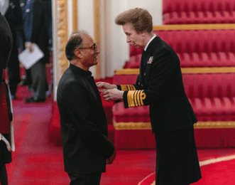 Princess Anne awards MBE to Ajay